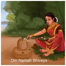Maa Parvati worshipping Shivalingam